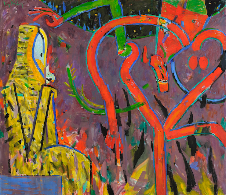 While We Watched , 1986, oil on canvas, 67 1/4 x 77 1/2 in. (170.8 x 196.9 cm)