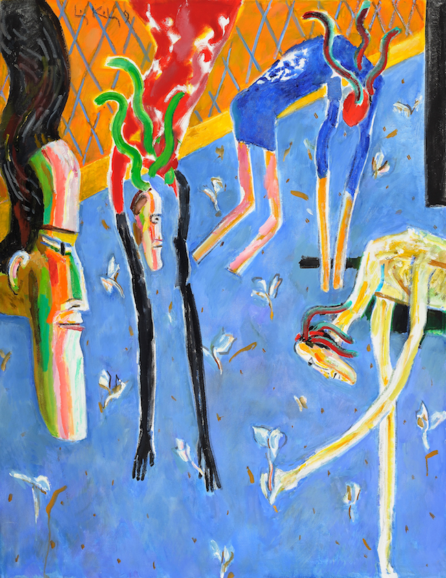 Sparrows That Fall , 1990, oil on canvas, 43 x 33 in. (109.2 x 83.8 cm)