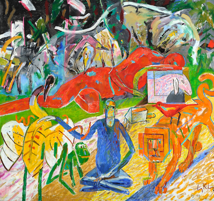 Dormition , 1997, oil on canvas,   69 x 73 in. (175.3 x 185.4 cm)