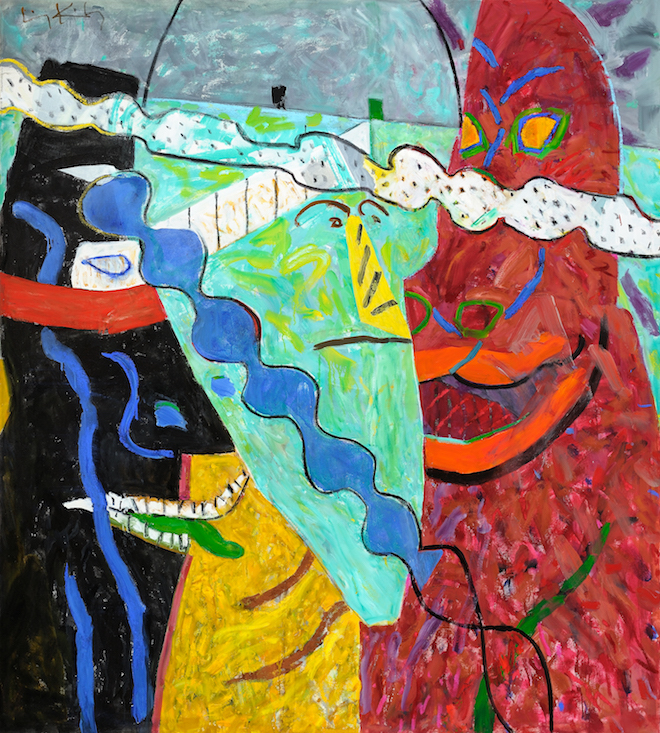 Visions , 1991, oil on canvas, 80 x 72 in. (203.2 x 182.9 cm)