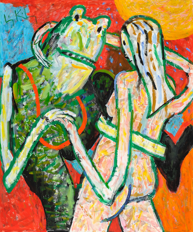 Hey, Hey!  1998, oil on canvas, 60 x 50 in. (152.4 x 127 cm)