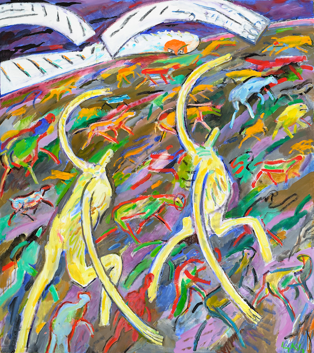 Sweep , 2003, oil on canvas, 56 x 50 1/4 in. (142.2 x 127.6 cm)