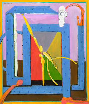 Close Quarters , 1974, oil on canvas, 44 x 36 in / 111.76 x 91.44 cm. Photo by Paul Takeuchi