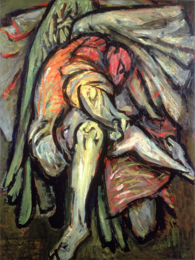 Jacob's Struggle , 1946, oil on canvas, 60 x 40 in. (152.4 x 101.6 cm). Collection of The Jewish Museum, New York.