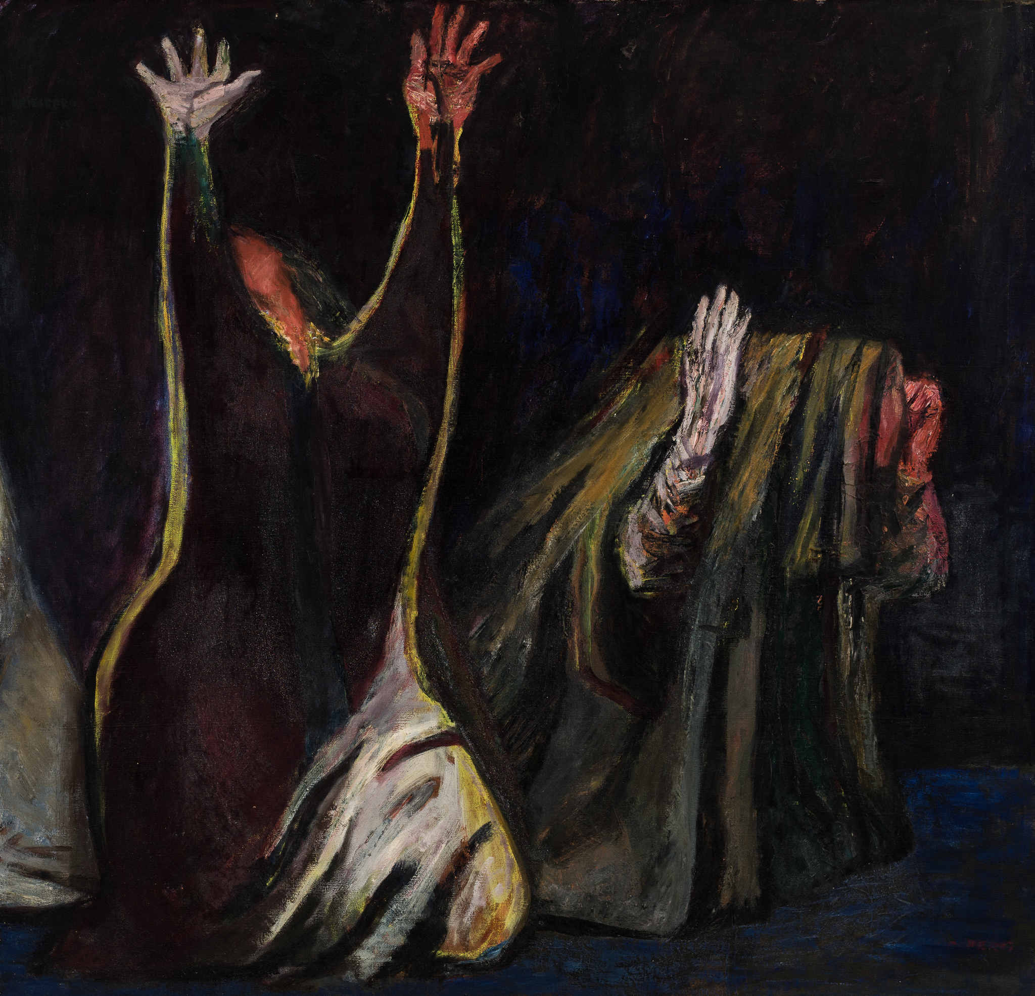 Weeping Women , 1945, oil on canvas, 36 x 38 1/4 in. (91.4 x 97.2 cm)