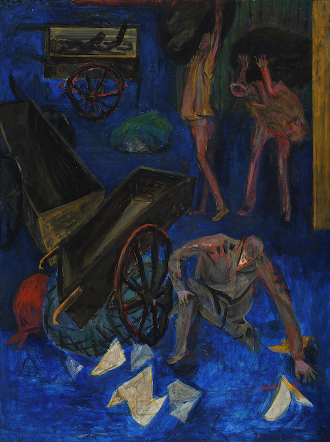 Ragpickers , 1949-50, tempera on Masonite, 40 x 30 in. (101.6 x 76.2 cm)