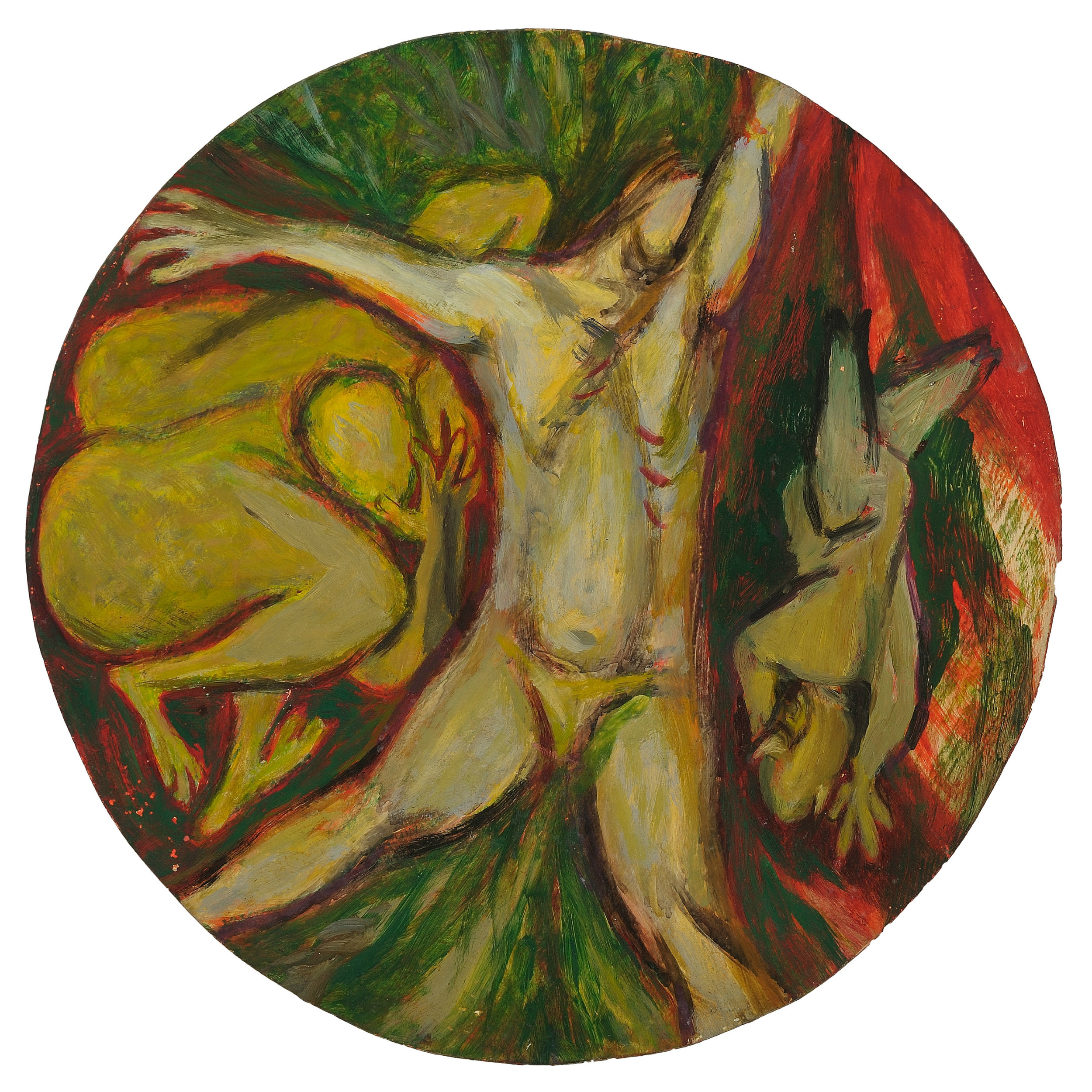 Irving Kriesberg,  Profane Love or The Fall of Man , 1946, oil on Masonite. Collection of the Estate of Irving Kriesberg