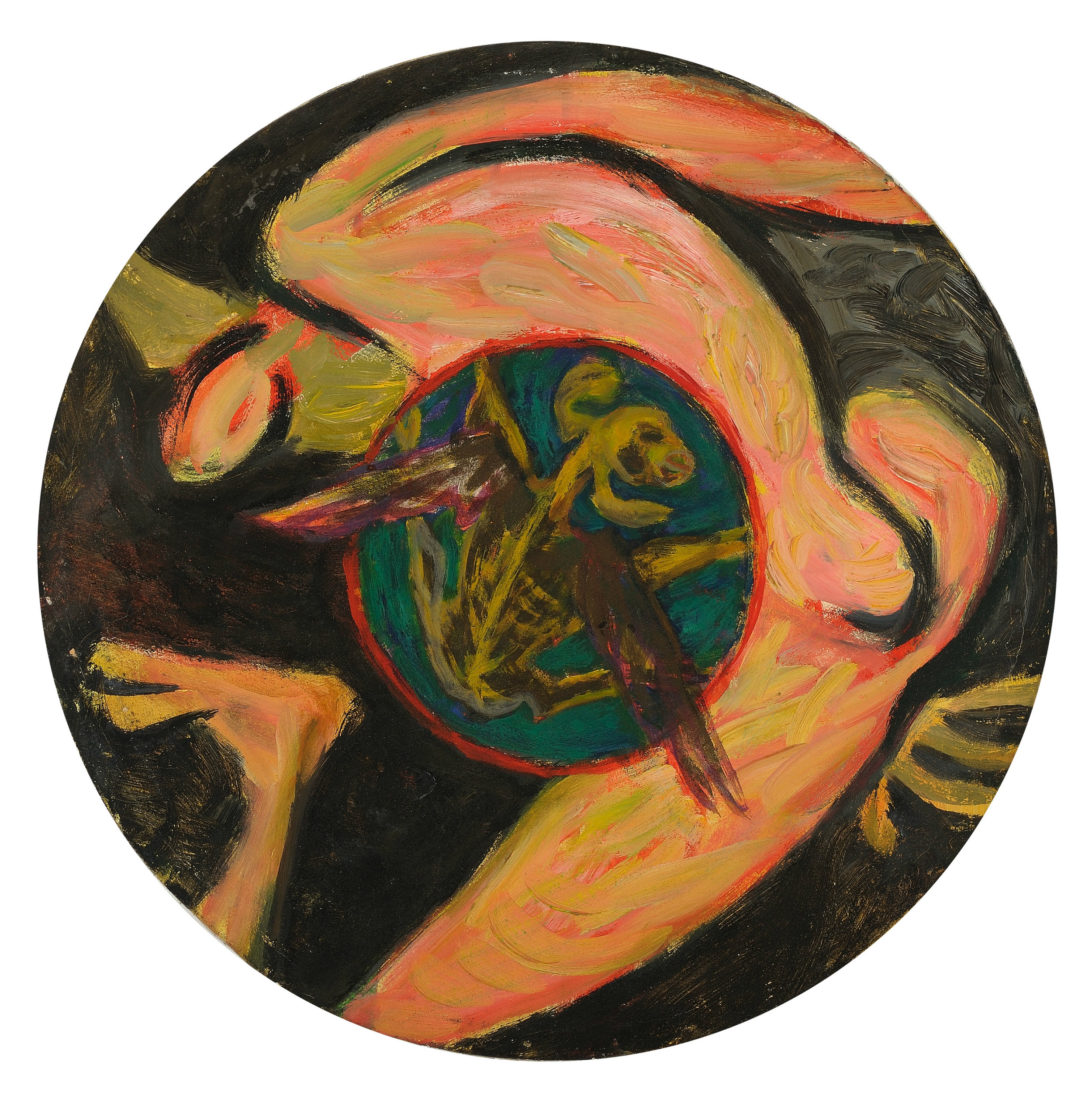 Irving Kriesberg,  Angel with Medallion , 1947, oil on canvas. Collection of the Estate of Irving Kriesberg