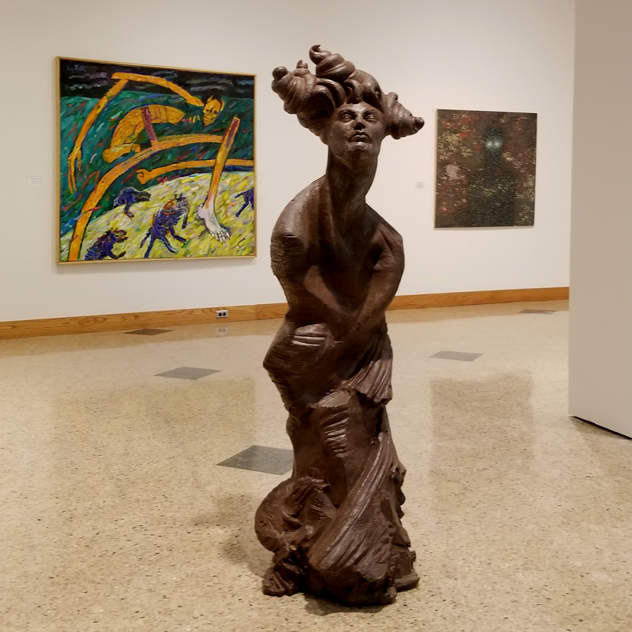 Installation view of  Weird & Eerie: Selections of Extraordinary Character.  Courtesy of Daum Museum of Contemporary Art