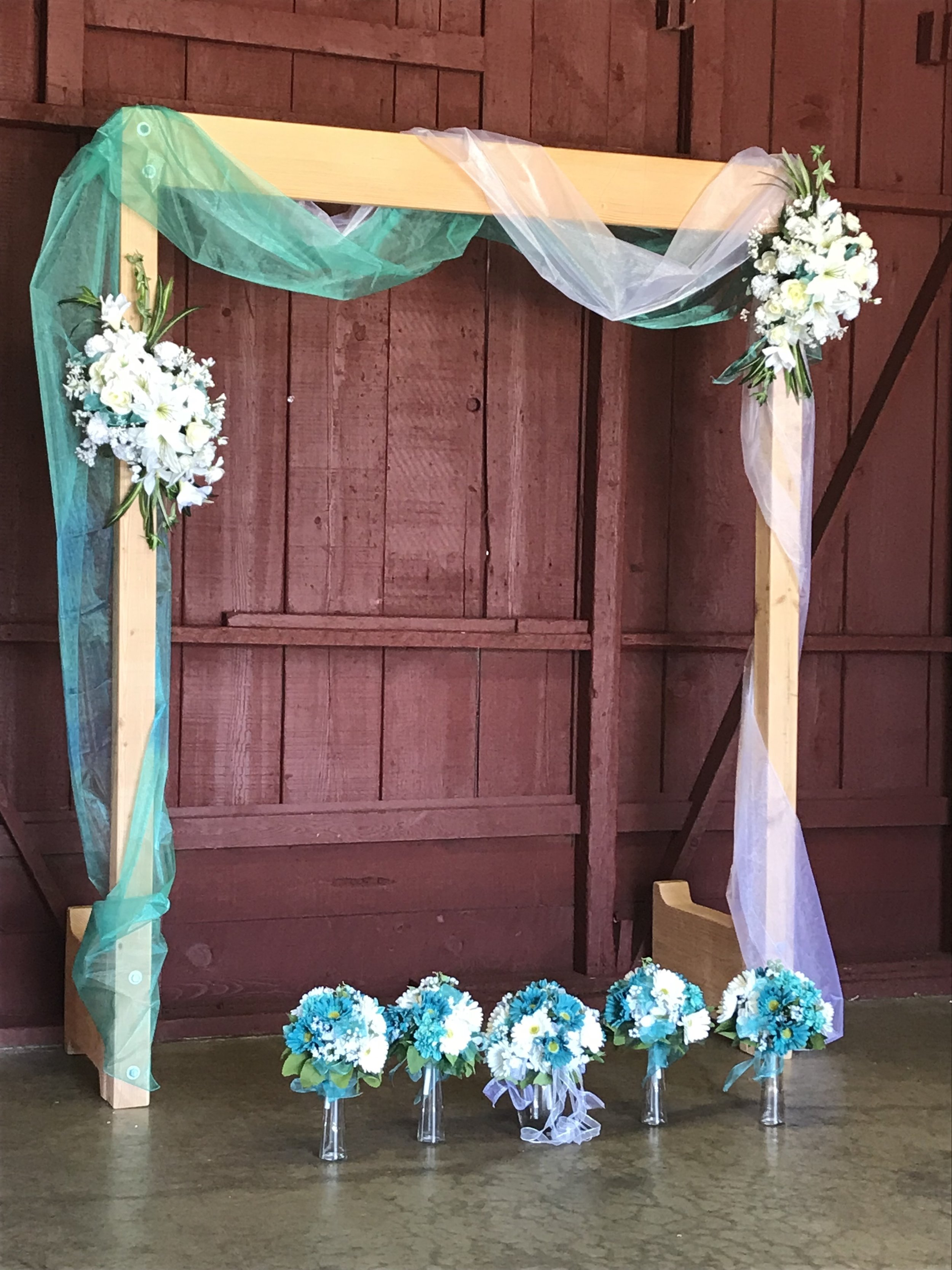 Silk Flower Arbor and Bouquets - FLO 505