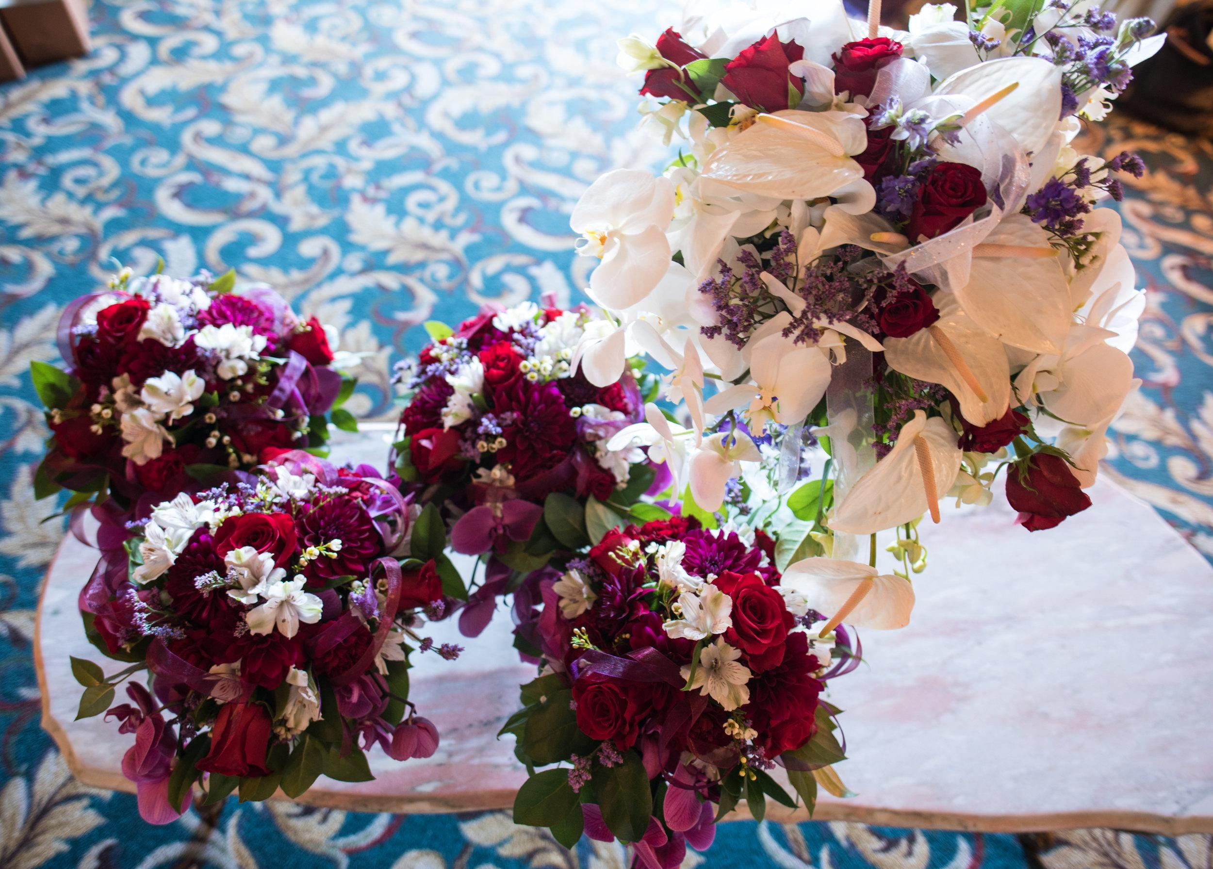 Anthurium Bridal Bouquet and Attendants - FLO 507
