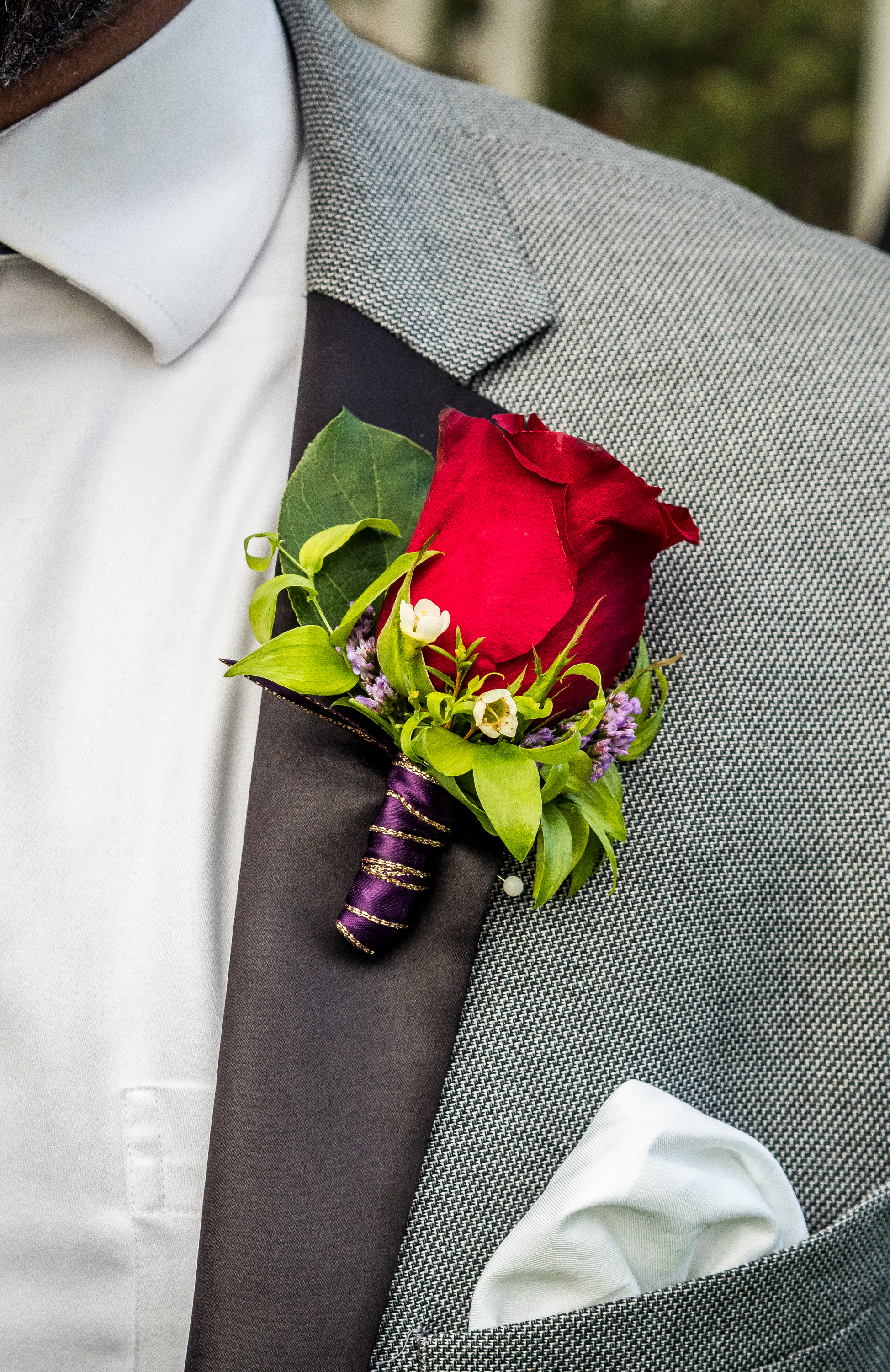 Red Rose Boutonniere - FLO 508