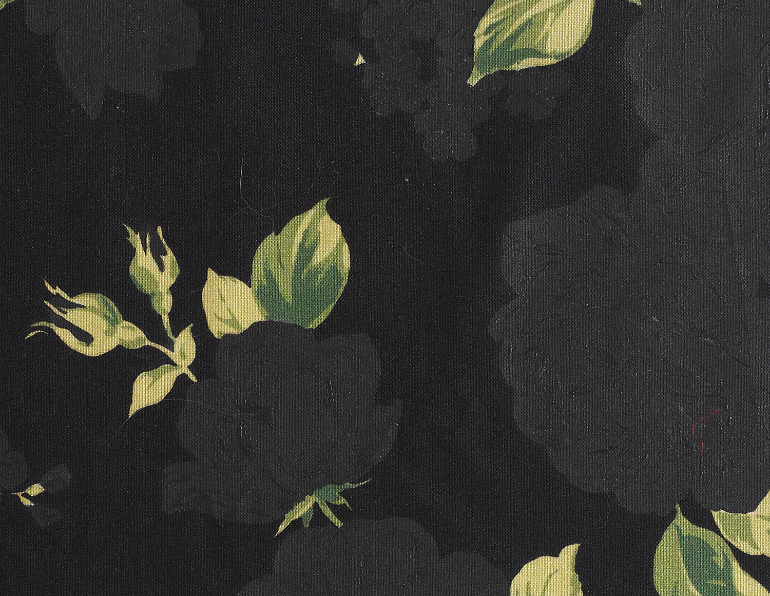 Faulty Samples (Back to Black)  (detail), 2014  Acrylic on found fabric sample