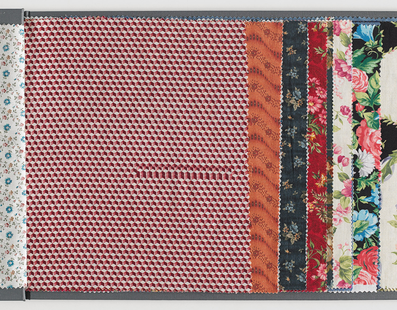 Faulty Samples I (Stack) , 2014 Fabric collage on found fabric sample 29.5 x 26 cm / 11.6 x 10.2 inches