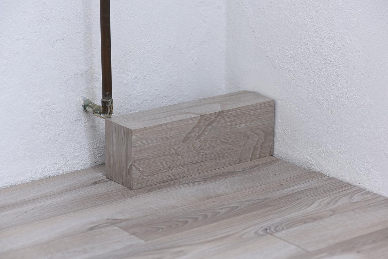 Floor Paintings , 2018 Acrylic on MDF on floor Dimensions variable
