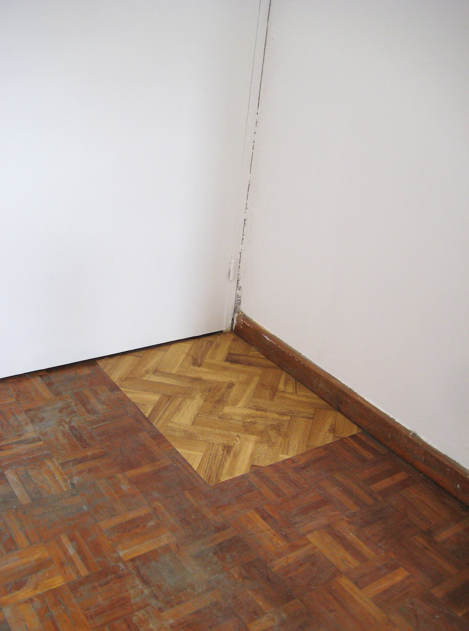 Stain Painting,  2009 Acrylic on found vinyl flooring 62 x 48 cm (24.5 x 19 inches)