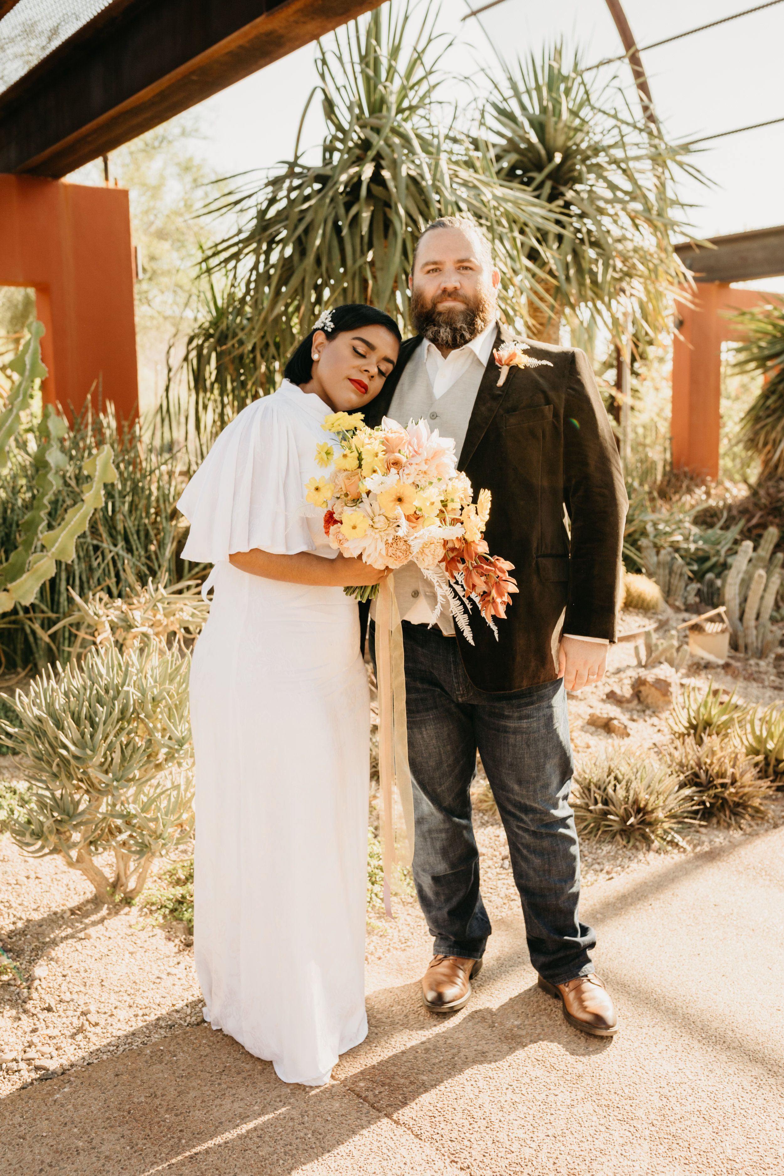 Denisse & Chase on their wedding day as captured by Jaryd Neibauer