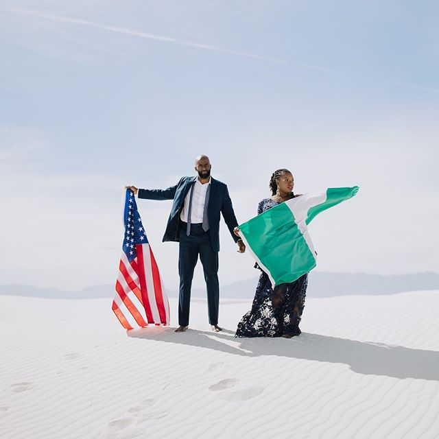 This gorgeous #whitesands engagement is on the blog today. We love @naijamango & Jarrett. This was incredibly special to capture. ⁣⁣ ⁣⁣ ⁣⁣ #nigerianengagement #parisinjuneco #nigerianwedding #whitesandsnewmexico #engagementphotos #arizonaphotographer #phoenixphotographer #travelingphotographer