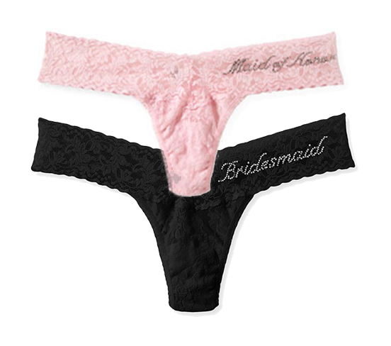 'Maid of Honor' and 'Bridesmaid' Thong by Hanky Panky