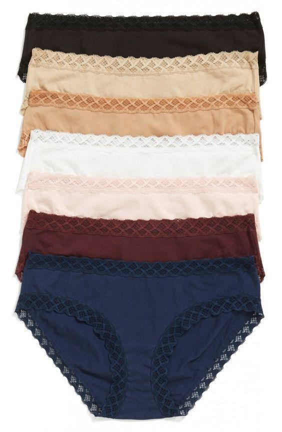 Cotton Bikini with Lace by Natori