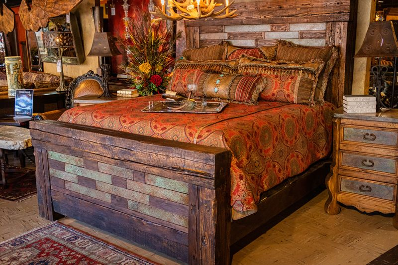 Stacked Copper King Bed