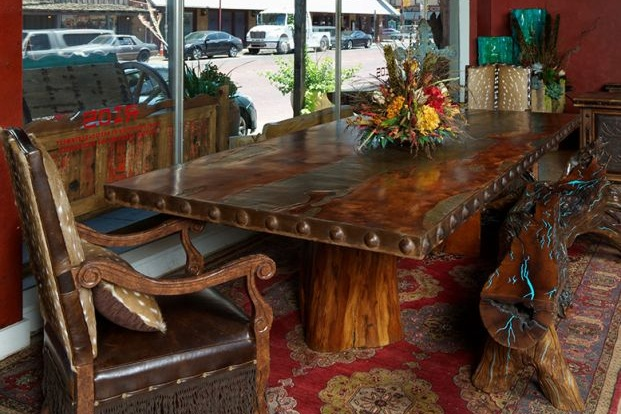 Copper and Mesquite Dining Table