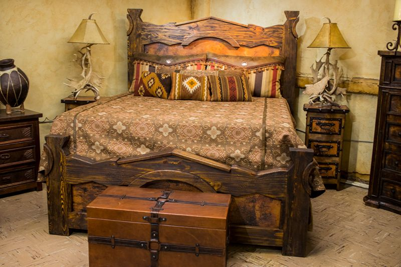 Copper King Bed