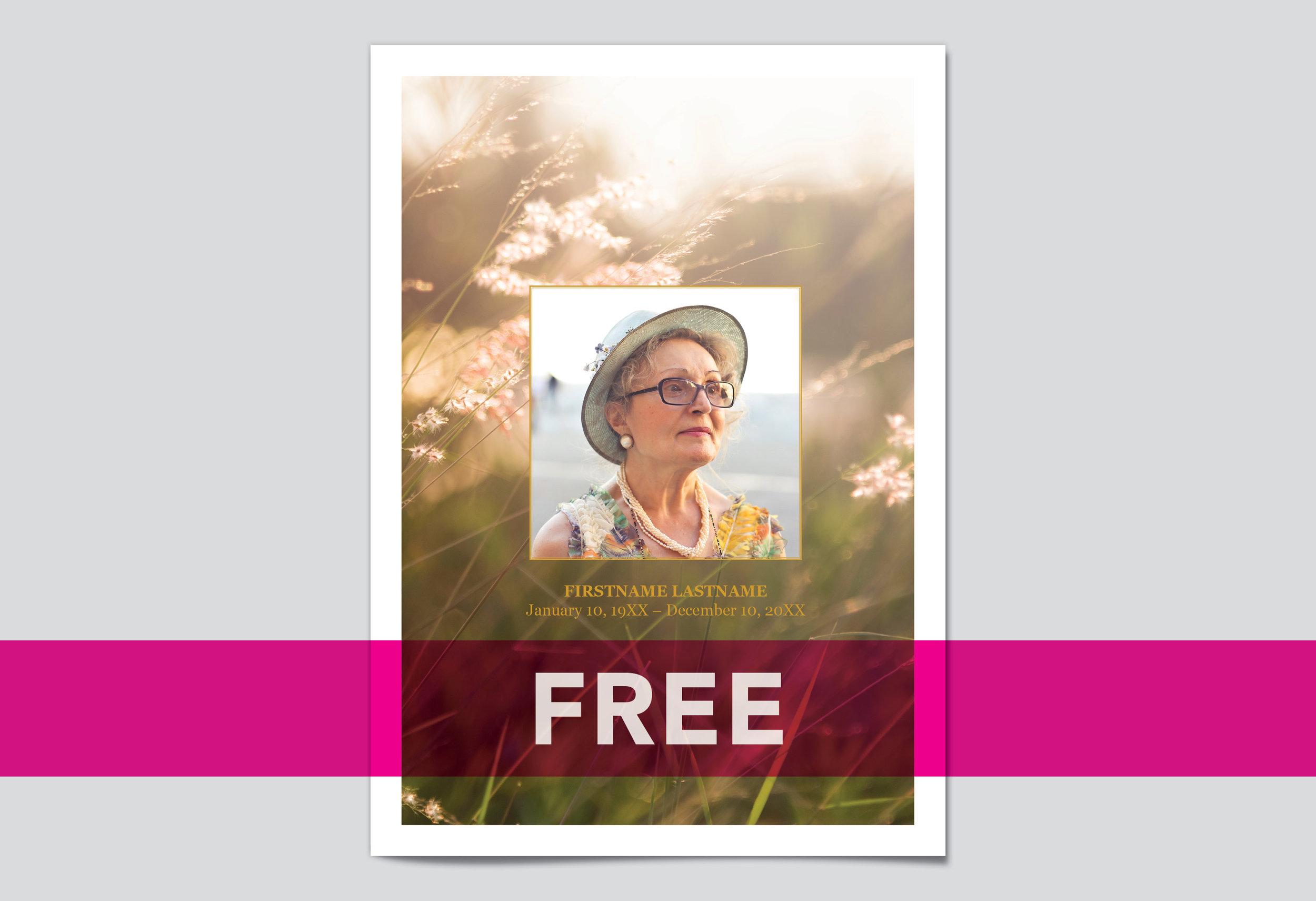 Free Editable Funeral Program Templates  My Wonderful Life Pertaining To Memorial Card Template Word
