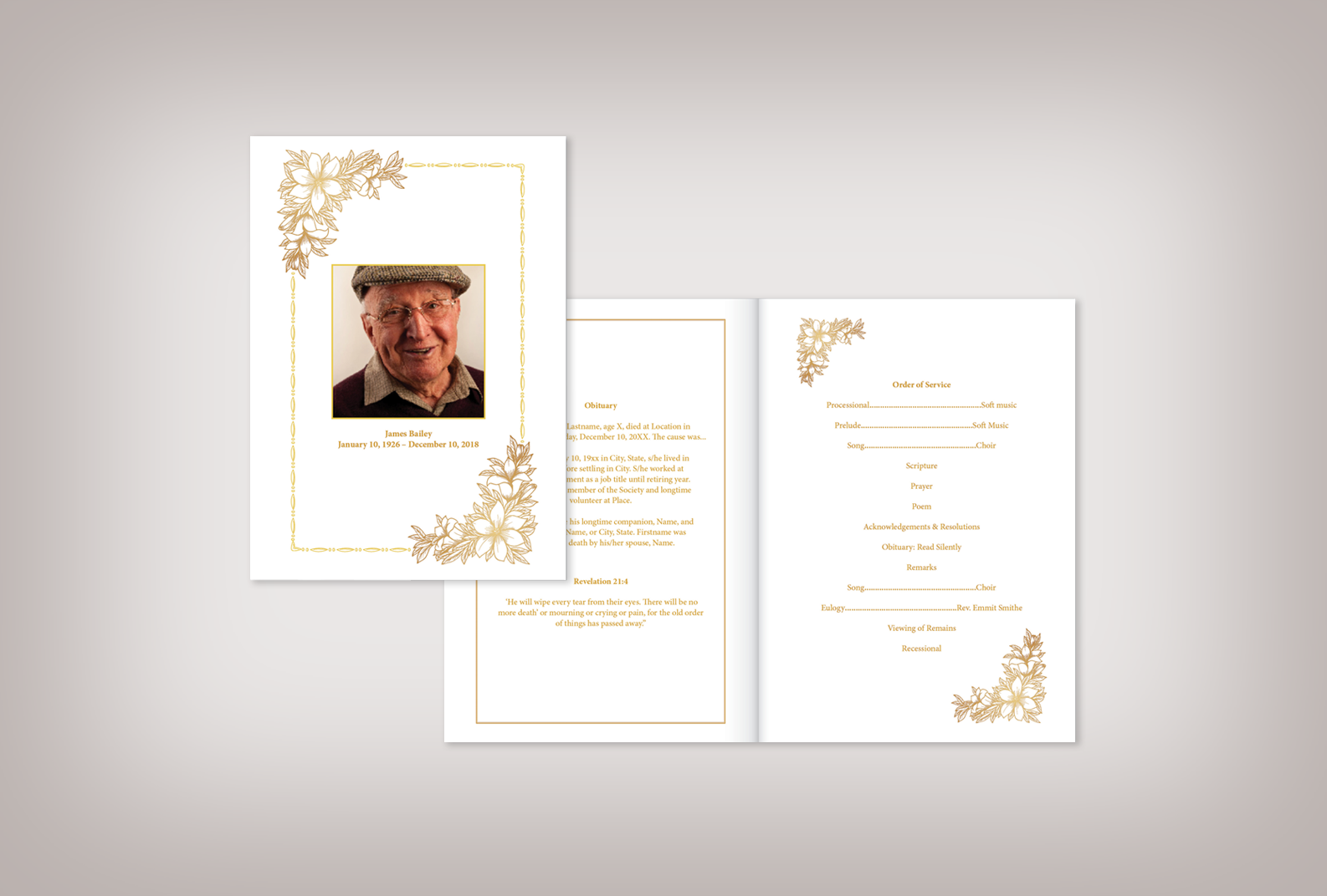 Need a Funeral Program? - Download editable funeral program designs that can be customized with your own text and photos.Choose a design
