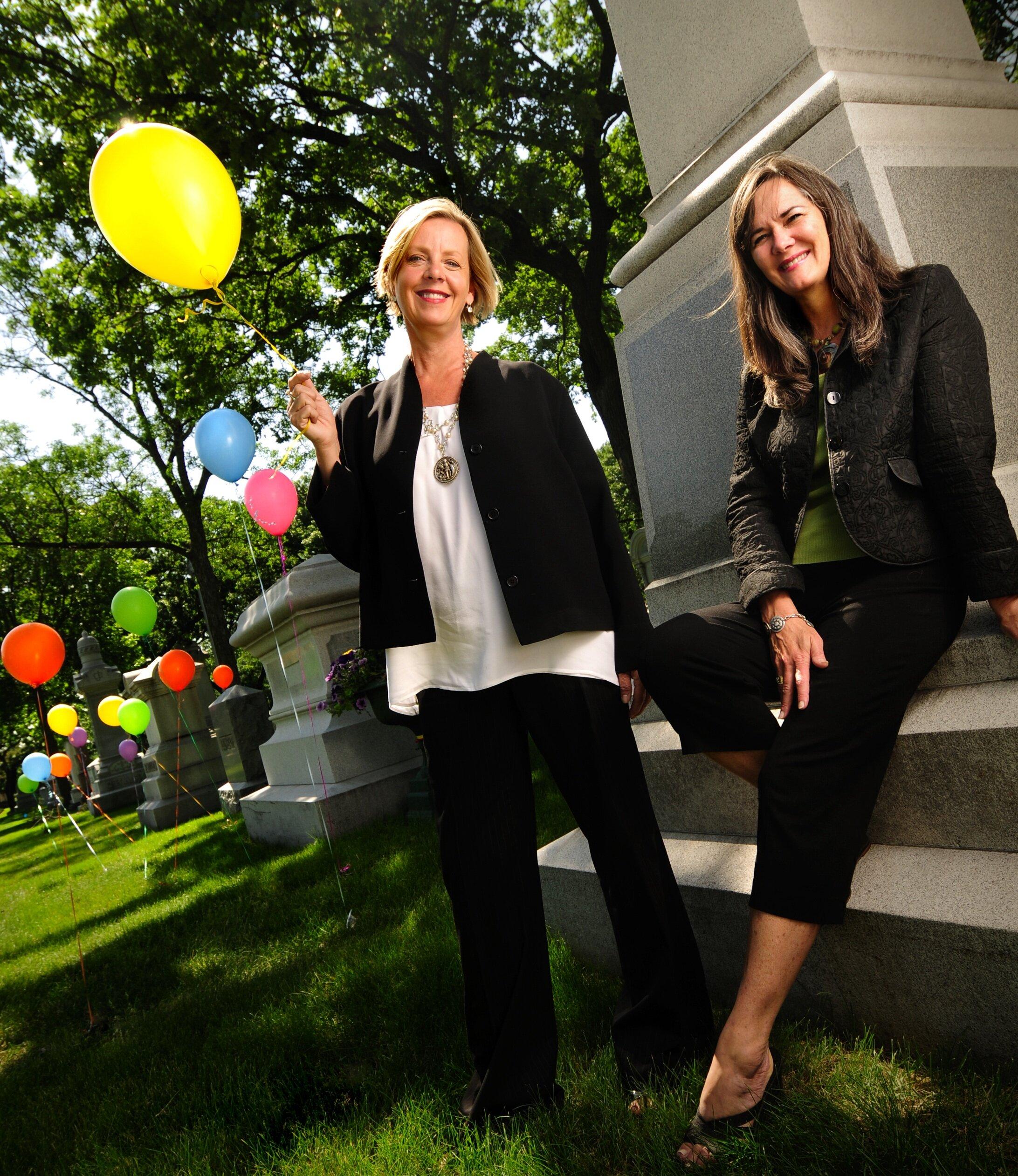 Founders Photo: Sue Kruskopf (left) and Nancy Bush (right)
