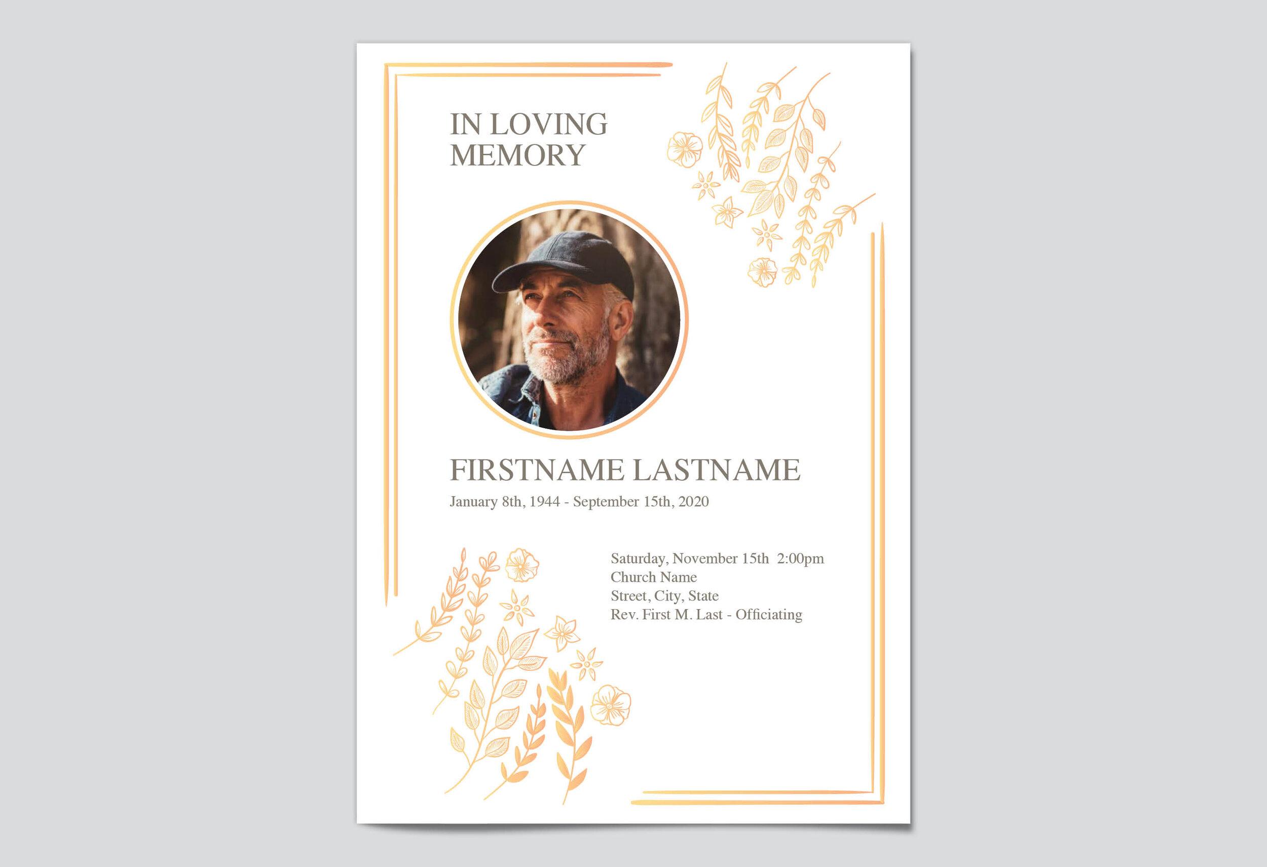 Free Editable Funeral Program Templates  My Wonderful Life Throughout Memorial Card Template Word