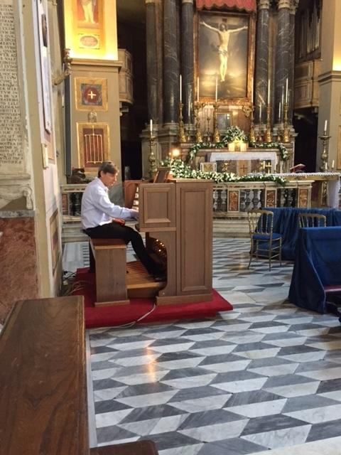 ITALY Rome san Lorenzo in Lucina Church Organ.JPG