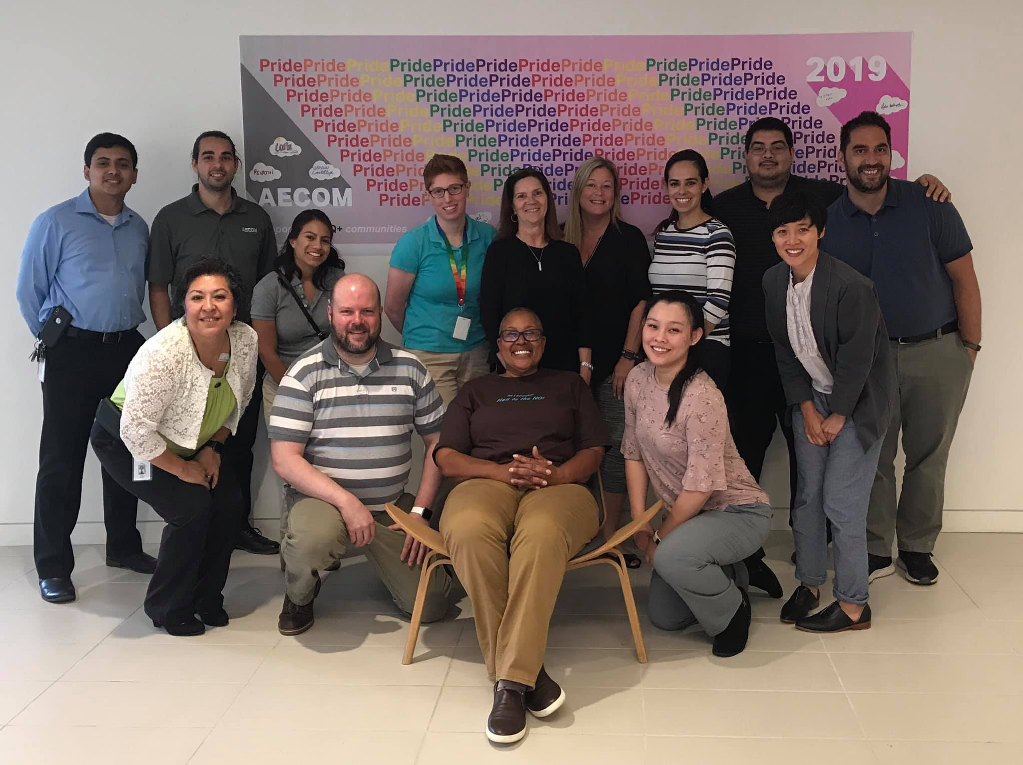 AECOM Employee PRIDE Group visiting with Silver Pride Project