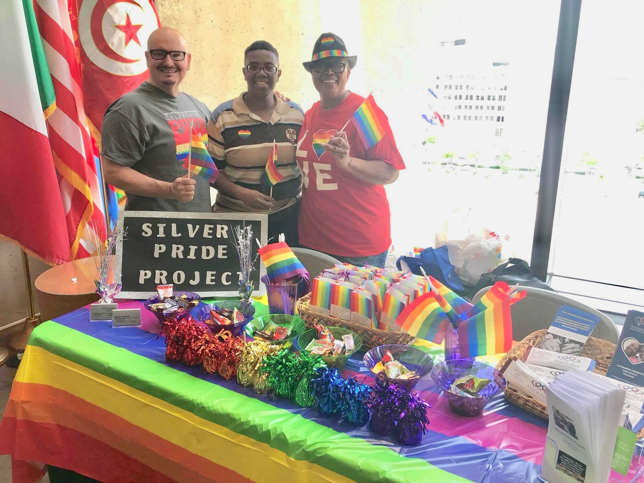Silver Pride Project representing at Dallas City Hall