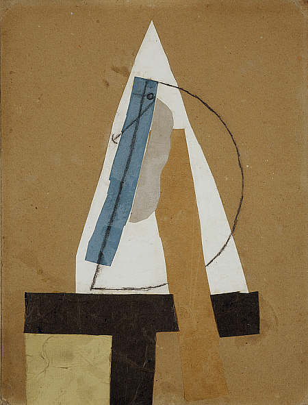 Pablo Picasso,  Head  (1913-1914). Come on buddy, this is just clutter. Stick to painting.