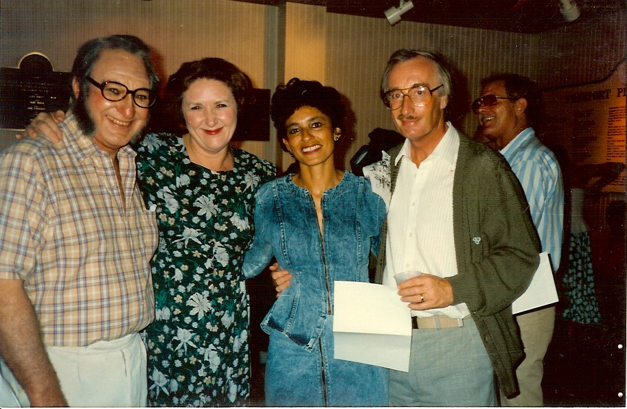 EARLY DAYS:  Sir Jack Hayward, Rose Carson, Andrea Gottlieb, and Peter Aston