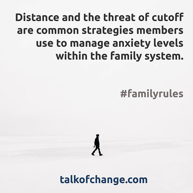 "Listen in as we explore the eight strategies for managing anxiety within the family system including ""distance and cutoff"". New episode of Talk of Change Podcast is live with Dr. Kathleen Smith."