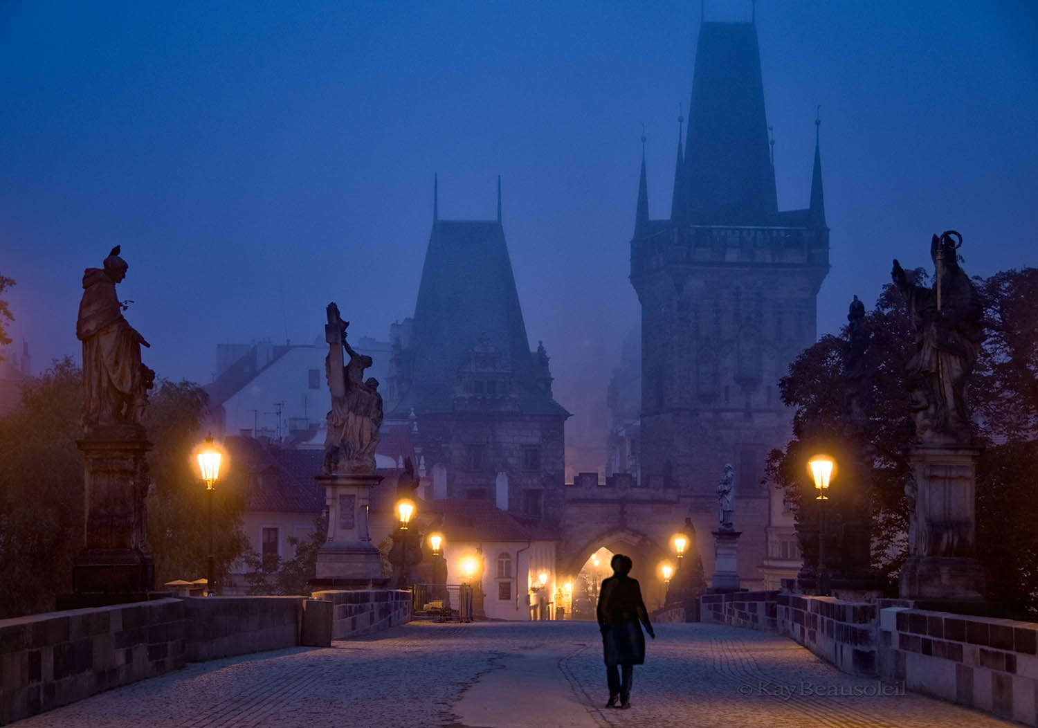 A Sense of Place:  FIRST LIGHT ON THE CHARLES BRIDGE