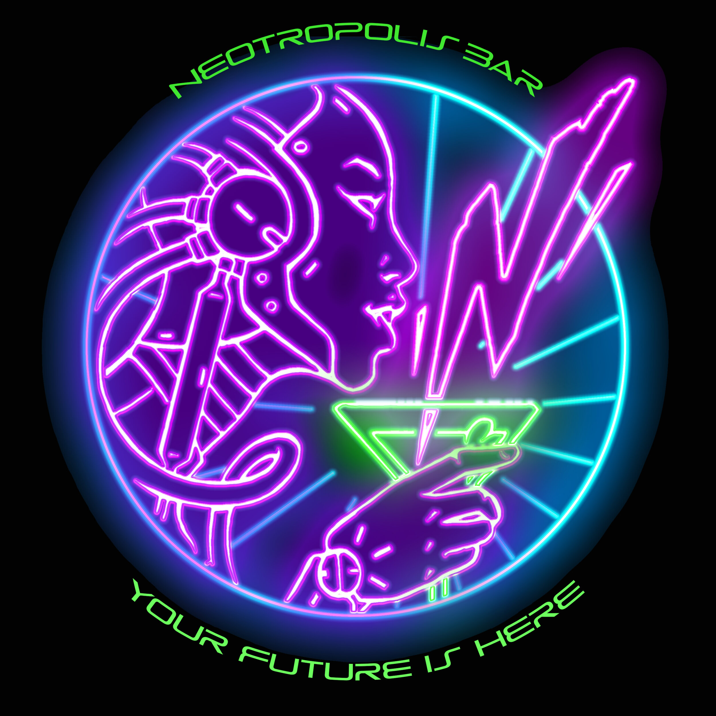 Our newest logo- featuring the Neotropolis Robot