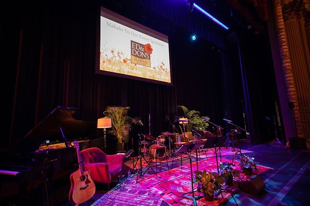 A big mahalo to @roamrentalshawaii for the furniture rental to help create our stage design. In case you missed the show, the couch, chair, tables, and lamps created an intimate setting and allow us to do something different this Mother's Day!