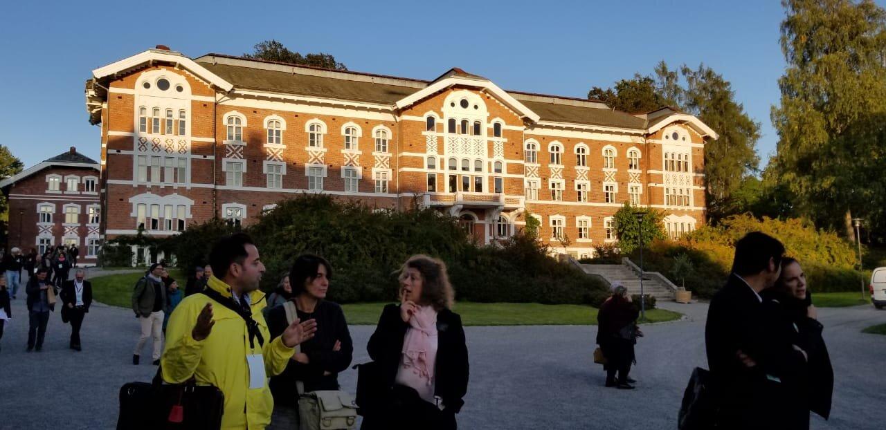 Guided tour of the NMBU campus. Photo Credit Claudia Onate Pechini, ICHAP