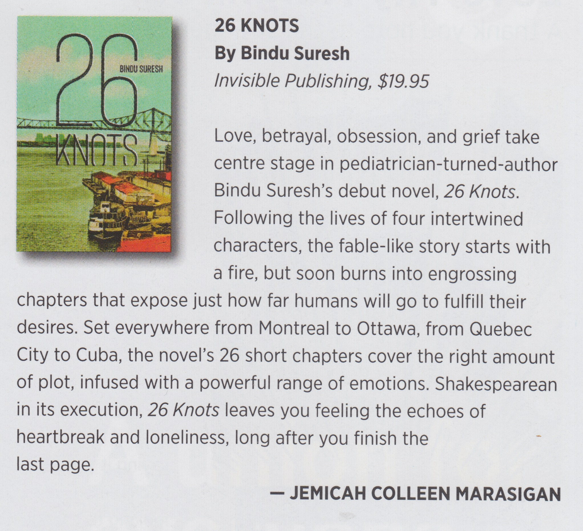 26 Knots Review, THIS Magazine