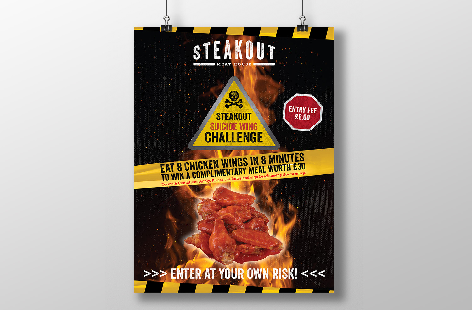Steakout Stratford Grand Opening Poster Design