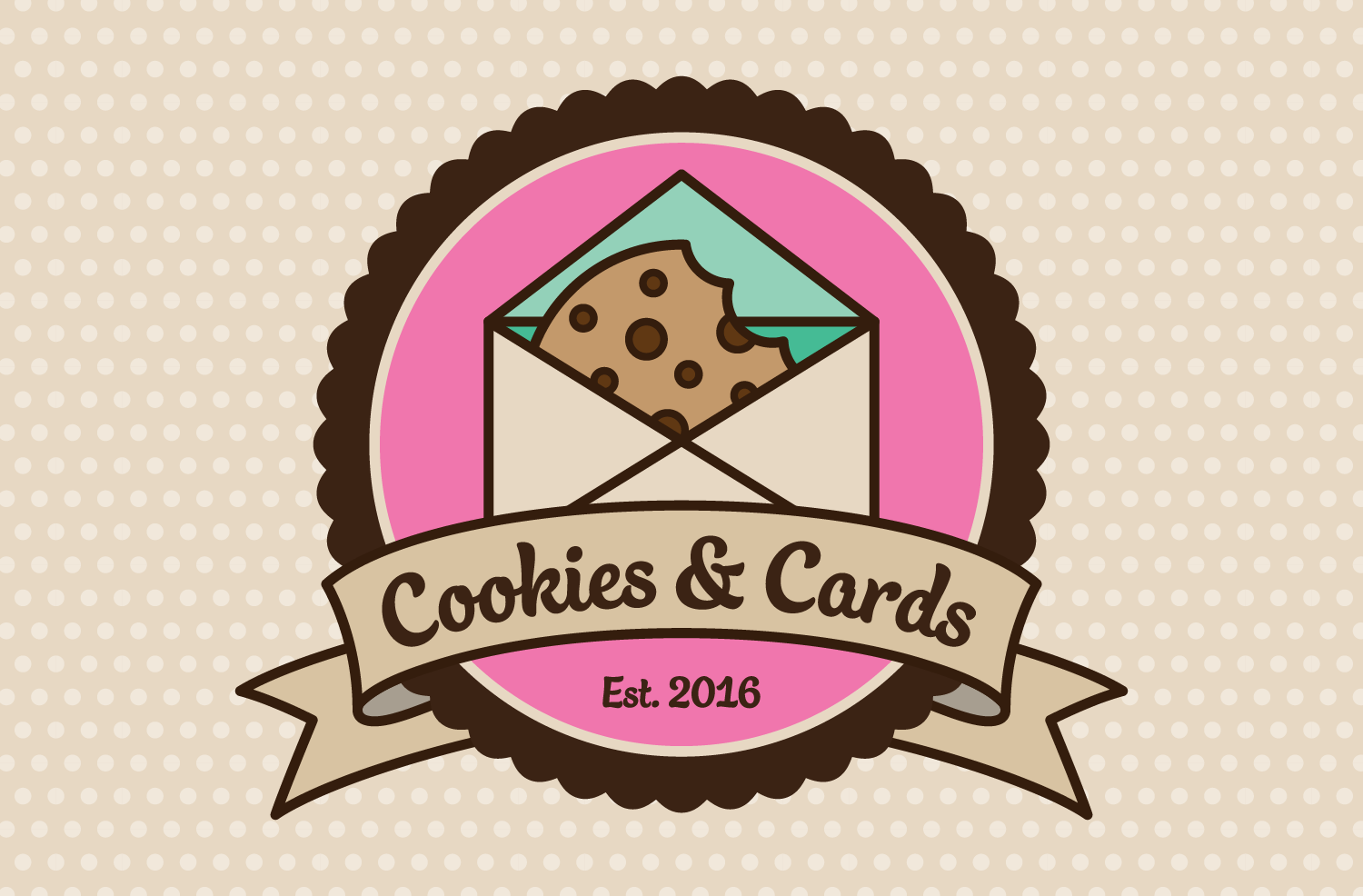 Cookies & Cards Logo & Stationery -