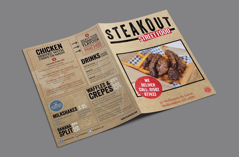 Street food menu design
