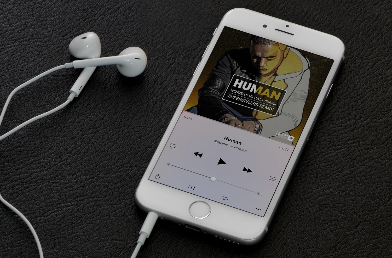 Music promo image design