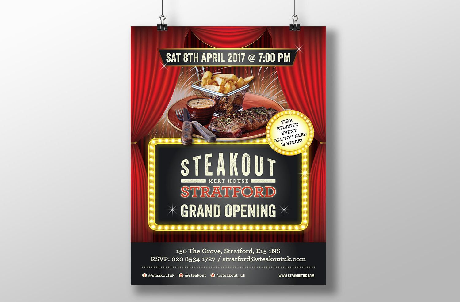 Steakout Poster & Flyer -