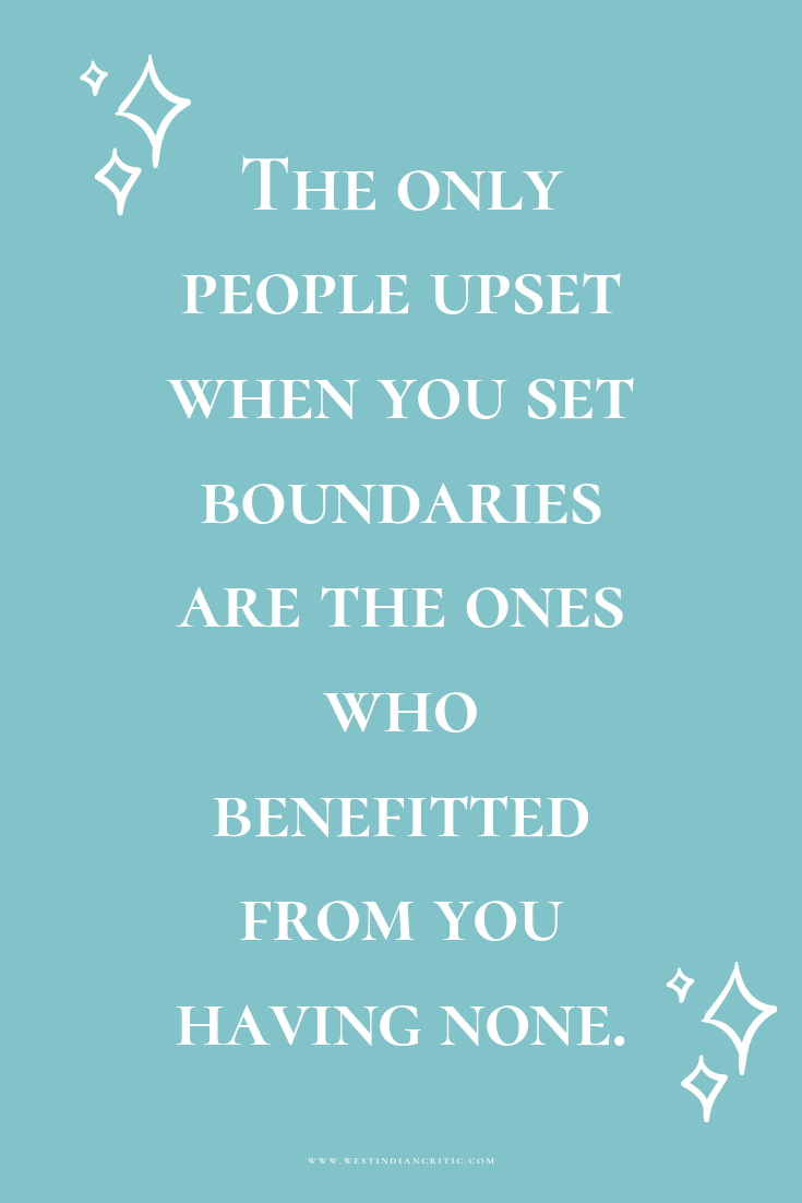 """The only people upset when you set boundaries are the ones who benefitted from you having none."""