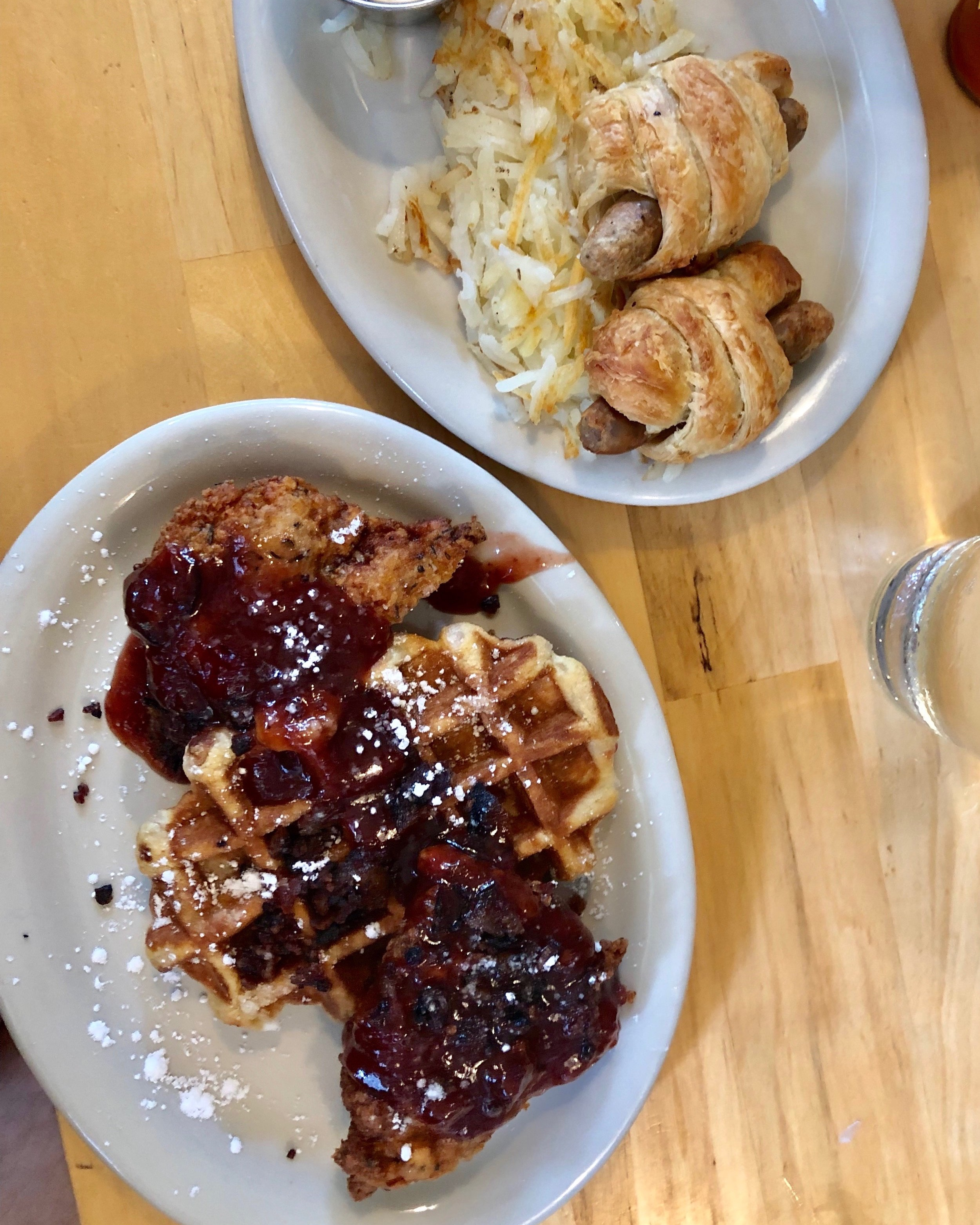 The Junction: Pigs in a blanket + Chicken & Waffles