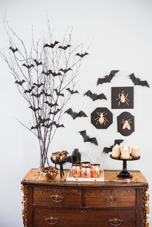 Bat Branch Centerpiece  via The Sweetest Occasion